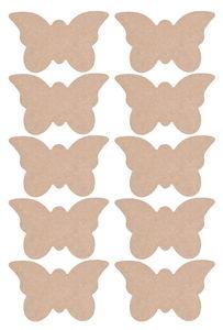 Holz Schmetterling, 10 Stück natur (140x85x2mm)