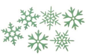 Vilten strooidelen - IJskristallen, mint, 6 stuks