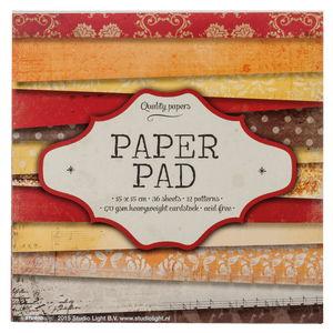 Designpapier-Block, 36 Bogen rot/orange (15x15 cm)