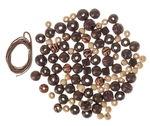 Lote de perlas de madera, 60 gr, 2 cordones