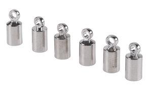 Metall-Endkappe für Bänder, 6 Stück platinfb.