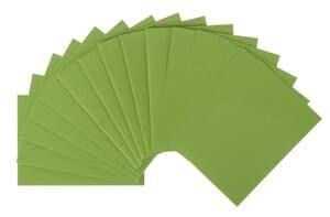 Dubbele kaarten + envelop, meigroen (A6), 15-delig