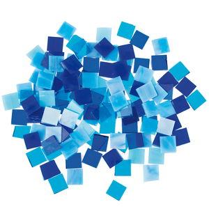 Mosaiksteine Tiffany, 200 g Blautöne  (10 x 10 mm)