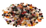 Halfedelstenen, gekleurde mix (10-15 mm) 1000 g