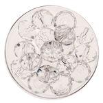 Glasschliff-Perlen (10 mm),  18 Stück cristall