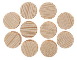 Roues en bois non percées , 20 mm, 10 pièces