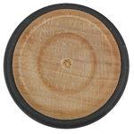 Beukenhouten wiel met rubberband, 54 mm