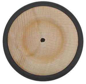 Beukenhouten wiel met rubberband, 63 mm, 15 mm