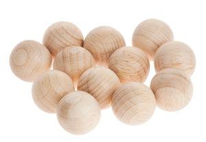 Houten ballen zonder boorgat (18 mm) 14 stuks