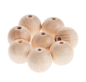 Bolas perforadas de madera (25 mm) 8 ud.