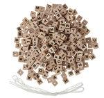 Dados perforados de madera con letras, 300 ud.
