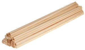 OPITEC grenen/vierkante balken voordeelset (1 m)