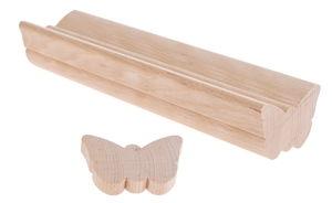 Baguette profilée en bois -Papillon-, 40 x 65 mm
