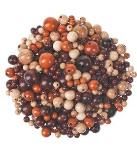 Perles en bois -Bille-, 2ème choix, a...,