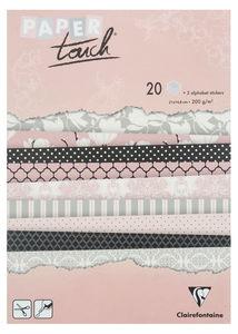 Papierblok 'Magnolia',22 vel,incl. letter stickers