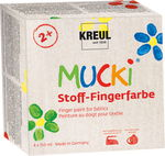 Stoff-Fingerfarbe Mucki, 4er-Set (4 x 150 ml)