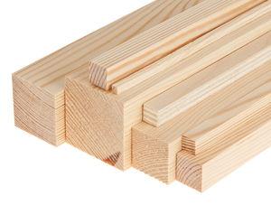 Genen/naaldhout lat - vierkant, 1000x30x30mm