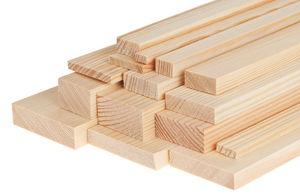 Grenen/naaldhout lat - rechthoekig 1000x40x20mm