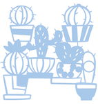 Pochoir Mask Stencil Cactus, Plastiq...,