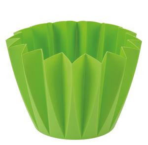 Dekotopf Zacken, grün (Innendurchmesser 160 mm)