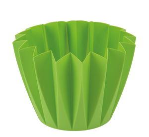 Dekotopf Zacken, grün (Innendurchmesser 135 mm)