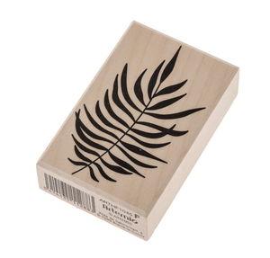 Holzstempel Farn-Blatt        (45 x 70 mm)