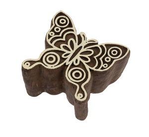 Blockstempel Kunststoff - Butterfly (6x5,5cm)