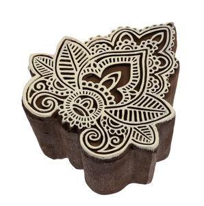 Blockstempel Kunststoff - Indian Leaf (7x7,5cm)