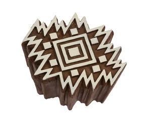 Kunststof stempelblok - Aztec tegel (8 x 6,5 cm)