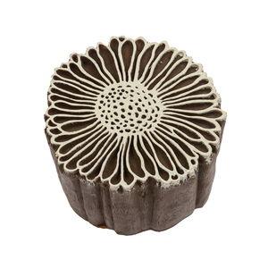 Blockstempel Kunststoff - Vintage Daisy (7 cm)
