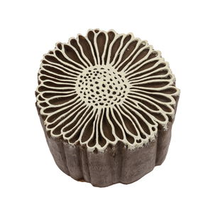 Kunststof stempelblok - Vintage Daisy (7 cm)