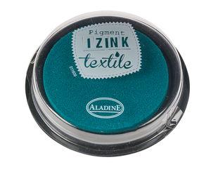 """Coussin encreur """"IZINK Pigment Textile"""", pétrole"""