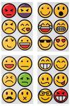 Stickers 'Emojis' - rond (40 mm) 24 stuks