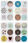 Stickers - rond hot foil (40 mm) 24 stuks