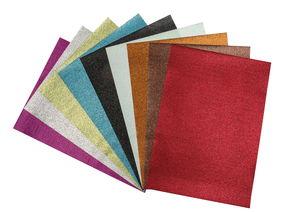 Glitterpapier, 10 Bogen farbig sortiert (50x70 cm)