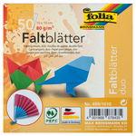 Faltblätter Duo, 50 Blatt in 10 Farben (10x10cm)