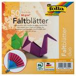 Faltblätter Duo, 50 Blatt in 10 Farben (15x15 cm)