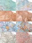 Tonpapier,   8 Bogen Maps (34 x 49,5 cm)