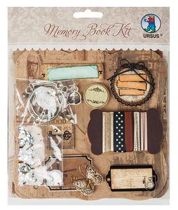 Bastelset Memory Book Kit Vintage