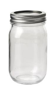 Glas met deksel (420 ml) 7,8 x 7 x 13,5 cm