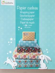 Geschenkpapier, 12 Bogen Weihnachten (43 x 60 cm)