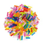 Kunststoffperle, 300 Stück Stäbchen bunt sortiert