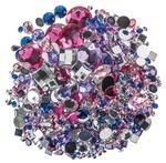 Kristallsteine für Anhänger, 1000 Stück bunt sort.