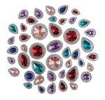 Kristallsteine Deluxe, 100 St. Größen/Farben sort.