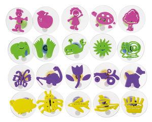 Foam stempelset - voor kinderen, 20 motieven