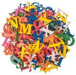 Holzbuchstaben z. Auffädeln, 200 Stück bunt (25mm)