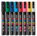 POSCA Marker PC-5M, 8er-Set Grundfarben