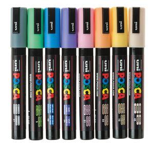 POSCA verfstiften PC-5M - pastelkleuren, 8 stuks
