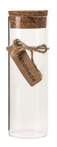 Glas met kurk (45 x 130 mm)