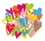 Coeurs en feutre, Assortiment aléatoi...,